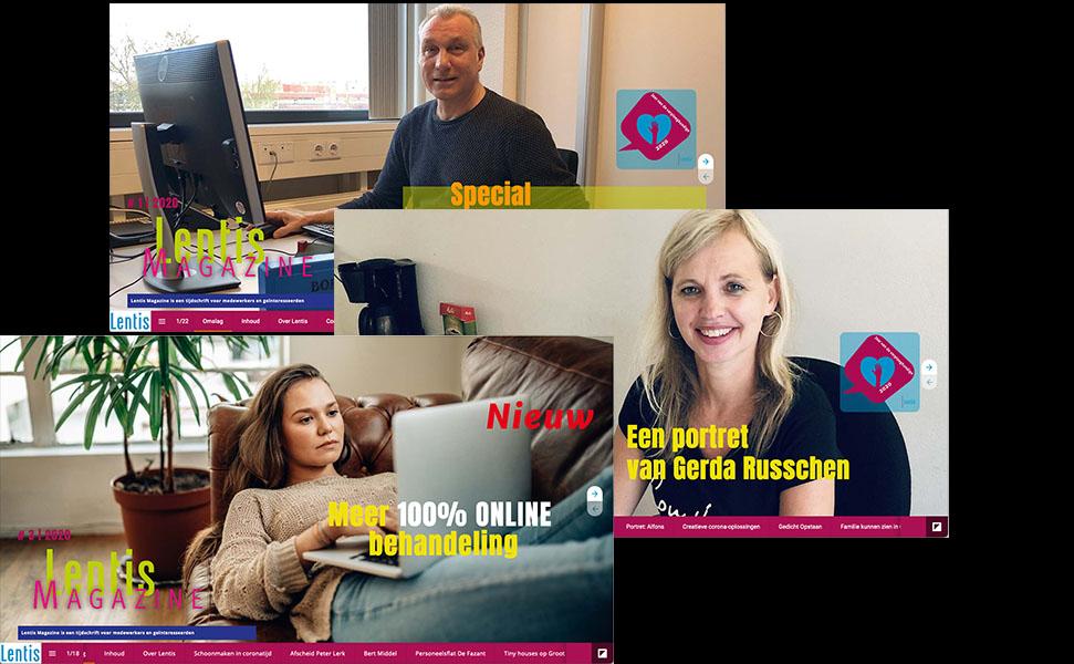 Online magazine voor medewerkers Lentis (http://magazine.lentis.nl)