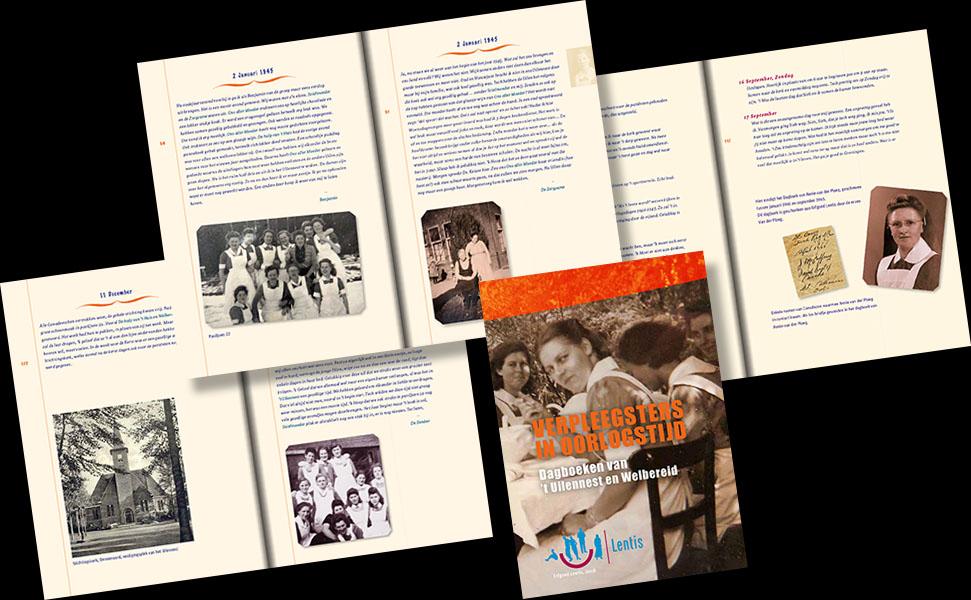 Uitgave Lentis • Fragmenten uit dagboeken van verpleegsters tijdens WO II